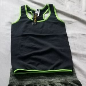 BNWT Workout Outfit *Med* Lime, Char & Blk